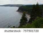 carbot trail in cape breton... | Shutterstock . vector #757501720