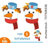 find differences  education... | Shutterstock .eps vector #757508338