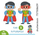 find differences  education... | Shutterstock .eps vector #757508659