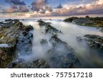 beautiful rocks texture at the... | Shutterstock . vector #757517218