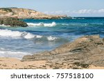 beach of the north of spain | Shutterstock . vector #757518100
