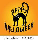 halloween illustration with... | Shutterstock .eps vector #757520410