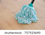 cleaning gear mopping a living... | Shutterstock . vector #757525690
