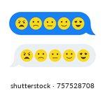 feedback emoticon emoji smiley... | Shutterstock .eps vector #757528708