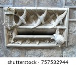 medieval architecture ornaments ... | Shutterstock . vector #757532944