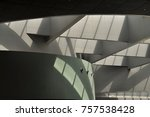 an abstract shadow effect on an ... | Shutterstock . vector #757538428
