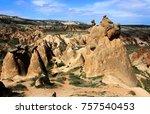 volcanic rocks   turkey | Shutterstock . vector #757540453