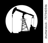 petroleum producing... | Shutterstock .eps vector #757540546