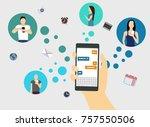 background social networks  | Shutterstock .eps vector #757550506