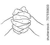 coloring men's two hands... | Shutterstock .eps vector #757550833