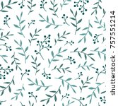 floral seamless pattern texture ... | Shutterstock .eps vector #757551214