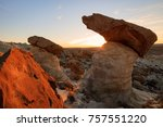 Sunrise With Hoodoos In The...