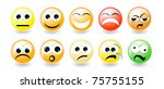 set of emoticons isolated with... | Shutterstock .eps vector #75755155