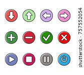 simple set of vector icons.... | Shutterstock .eps vector #757552054