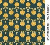 owl seamless pattern   Shutterstock .eps vector #757558090
