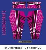 leggings pants fashion vector... | Shutterstock .eps vector #757558420