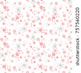 delicate floral texture.... | Shutterstock .eps vector #757560220