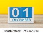 december 1st. image of december ... | Shutterstock . vector #757564843