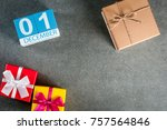 december 1st. image 1 day of... | Shutterstock . vector #757564846