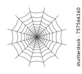 spiderweb icon vector | Shutterstock .eps vector #757566160