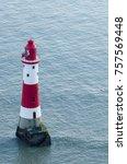 beachy head lighthouse. view...   Shutterstock . vector #757569448