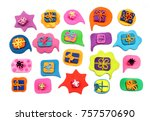 Small photo of Dialog Clouds. Plasticine background. Plasticine banner. Present