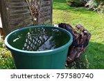 a ton of rain in the garden.... | Shutterstock . vector #757580740