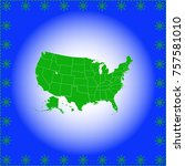 map of usa | Shutterstock .eps vector #757581010