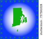 map of  rhode island  | Shutterstock .eps vector #757581028
