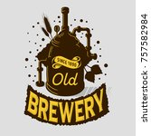 beer logo emblem print design... | Shutterstock .eps vector #757582984