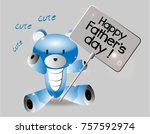 happy father's day  beautiful... | Shutterstock .eps vector #757592974
