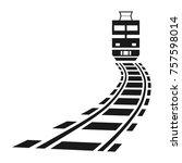 icon  sign   railroad ... | Shutterstock .eps vector #757598014