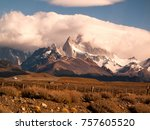 mountains seen from road | Shutterstock . vector #757605520