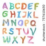 english alphabet  color... | Shutterstock . vector #757610650