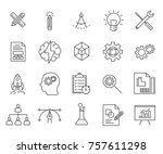 set of development related...   Shutterstock .eps vector #757611298