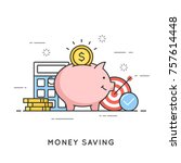 money saving  deposit... | Shutterstock .eps vector #757614448