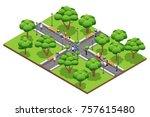 isometric landscaping... | Shutterstock . vector #757615480