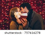 beautiful young couple in love...   Shutterstock . vector #757616278