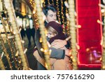 beautiful young couple in love...   Shutterstock . vector #757616290
