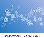 white snowflake macro vector... | Shutterstock .eps vector #757619563