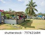 dravuni island  fiji pacific... | Shutterstock . vector #757621684