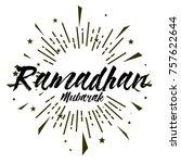 ramadhan mubarak  beautiful... | Shutterstock .eps vector #757622644