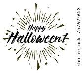 happy halloween  beautiful...   Shutterstock .eps vector #757622653