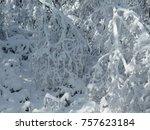 beautiful christmas snowy day    Shutterstock . vector #757623184