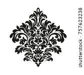 victorian style. ornate element ... | Shutterstock . vector #757623238