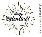 happy valentine  beautiful...   Shutterstock .eps vector #757623553