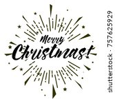 merry christmas  beautiful...   Shutterstock .eps vector #757625929