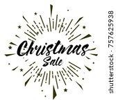 christmas sale  beautiful... | Shutterstock .eps vector #757625938