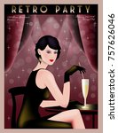 Retro Party Invitation Card....