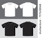 t shirt vector template with... | Shutterstock .eps vector #757628068